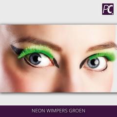 Neon wimpers groen