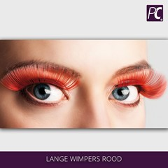 Lange wimpers rood