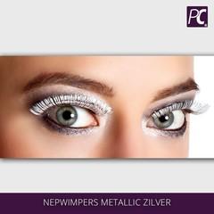 Nepwimpers metallic zilver