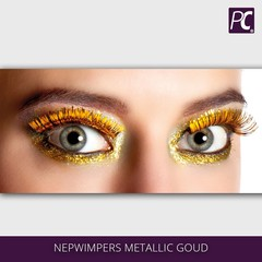 Nepwimpers metallic goud
