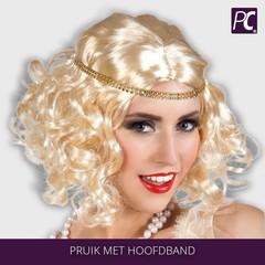 Pruik met hoofdband