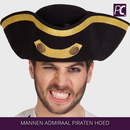 Mannen Admiraal Piraten hoed