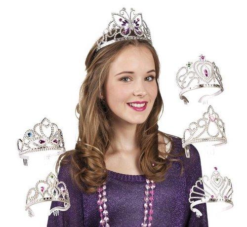 Zilverkleurig Prinsessen kroontjes