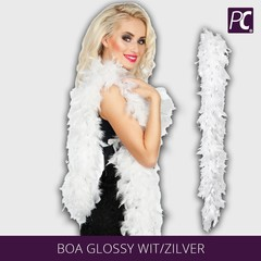 Boa glossy wit/zilver