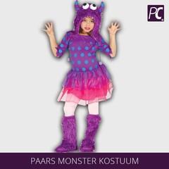 Paars monster kostuum