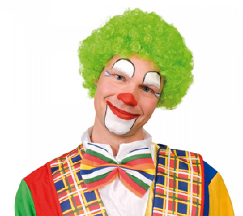 Groene Clowns Pruik Partycornernl