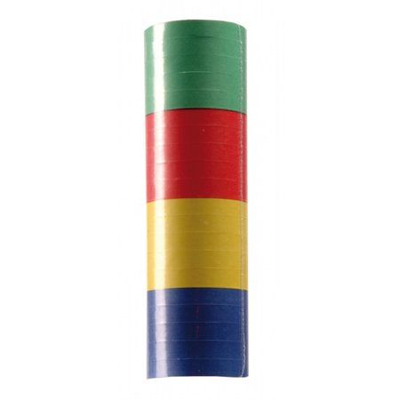 Rol serpentine carnaval 4 kleuren