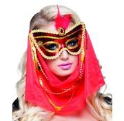 Arabische masker met sluier