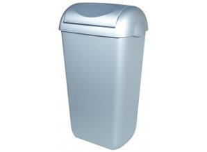 PlastiQline Waste bin Stainless steel look swing lid 23 lrt