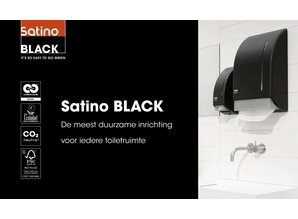 satino black Systeemrollen 2-laags - Wit