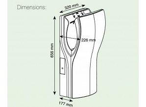 Mediclinics Dualflow - M12A Handendroger RVS Look