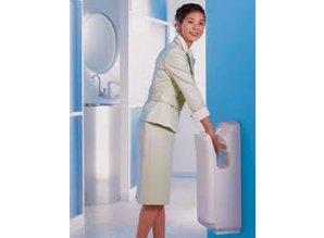 Mitshubishi Sèche mains Mitsubishi Jet Towel le sèche mains qui épargne 1.4 million d'arbres par an.