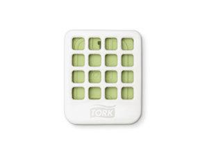 HYSCON Tork luchtverfrisserschijfjes met appelgeur (doos 4x20 stuks)