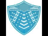 HYSCON Urinoirscherm Schild - Ocean Mist - Blauw