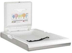 HYSCON Table à langer bébé verticalement blanc