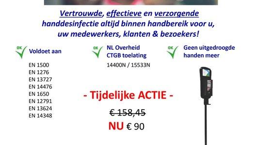 Desinfectiezuil met sensordispenser slechts 90 euro