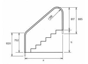 Flexinox leuning om naast trap te plaatsen