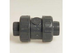PVC veerbelaste terugslagklep, type Mega 5000 75mm