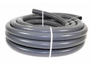 Mega Verlijmbare PVC poolflex 63 x 55mm grijs 25 mtr
