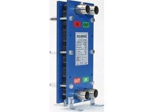 Échangeur de chaleur à plaques Aqua Easy en acier inoxydable vissé 30 / 70kW, avec support de montage