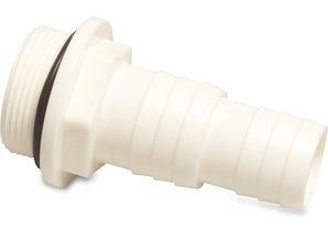 """Slangpilaren uit ABS met buitendraad x tule, 32/38mm x 1 1/2"""" buitendraad"""