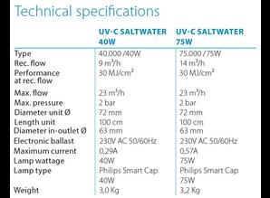 Blue Lagoon UV-C Saltwater 40W kort model lengte 48cm