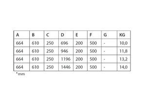 Flexinox Standaard ladder AISI 316 antislip 2 treden