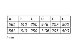 Flexinox échelle à aspect parallèle AISI 316 3 marches
