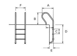 Flexinox échelle à aspect parallèle AISI 316 3 marches - Copy