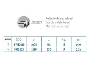 Flexinox Easy Acces ladder RVS 316 3 treden