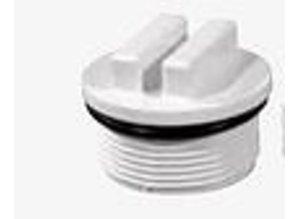 stofzuigeraansluiting   incl. aflsluitdop 5-6m³ lichtgrijs