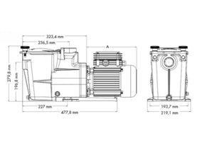 Hayward Super pompe 0,5 HP 7,5m³ / h mono