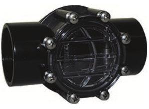 Waterco Terugslagklep 2 x 63 mm te lijmen met controlezicht