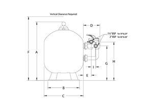 Pentair Triton Neo filter zijdelingse montage 8,5 m³/h Clearpro