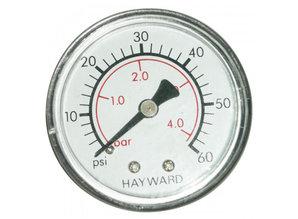 Hayward manometer 0- 4 bar droog achteraansluiting