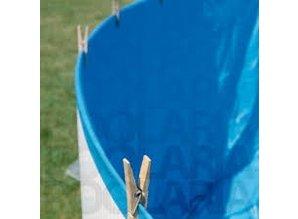 Liner 0,20 chevauchement bleu autour de 400x90
