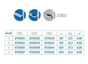 Flexinox 2-section échelle SS316 5 étapes