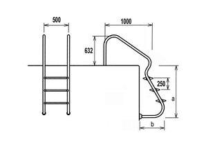 Flexinox Easy Acces ladder RVS 304 3 treden