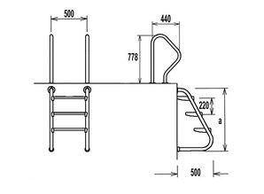 Flexinox 2 delige Easy Acces ladder RVS 316 3 treden