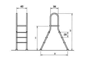 Flexinox Ladder RVS 316 4/4 treden