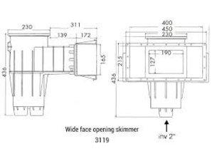 Hayward skimmer liner 3119 wit & gekleurd