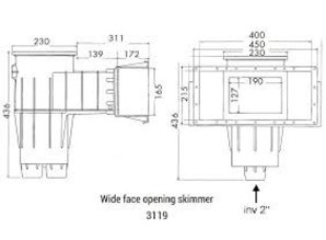 Hayward skimmer liner 3119