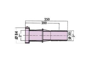 Hayward Wanddoorvoer 3352 250 mm liner