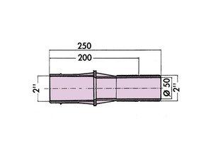 Hayward Mur bagues 250 mm pour le béton ou la tuile