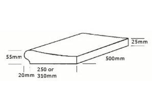 randsteen Sahara lijn 330mm