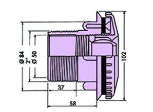"Hayward Richtbare inspuiter paneelbaden 2"" - 50mm"