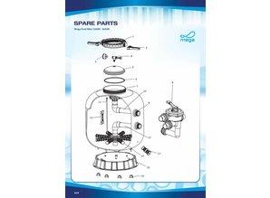 Mega parts zandfilters S500R - S650R Spare parts