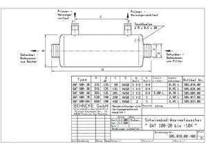 Behncke Acier inoxydable échangeur de chaleur QWT100
