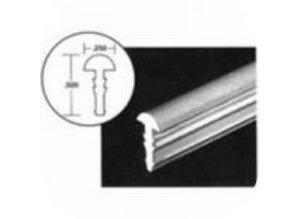 Afwerkingsstrip liner 30 meter wit breedte 12mm