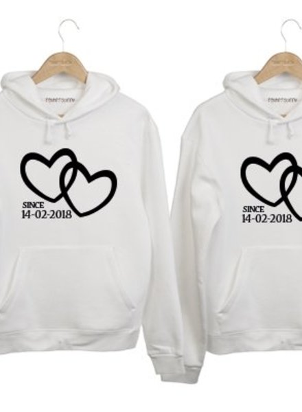 89651e408bb20c COUPLE HOODIES 2 HARTJES SINCE (DATUM)